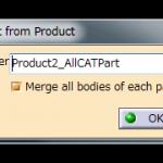 CATProductからCATPartを作成
